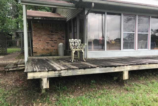 Deck Repair in Salem for old worn down deck