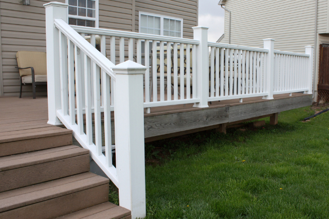 Salem Deck Railing painted in white