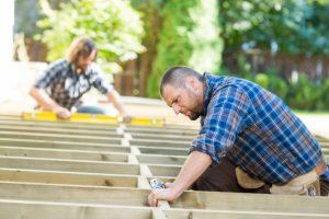 Salem Deck workers installing deck