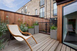 Salem Urban Composite Deck with minimalist furniture