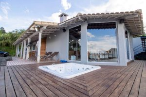 Salem Wooden Deck with jacuzzi installed